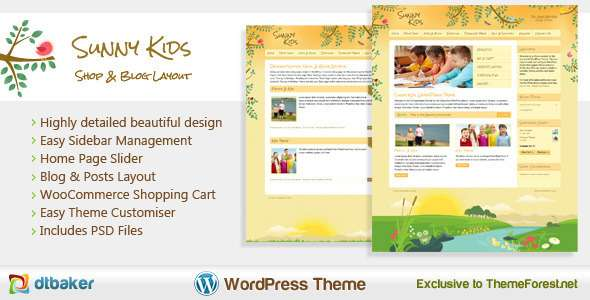 Sunny Kids - Responsive Creative WooCommerce Theme - Children Retail