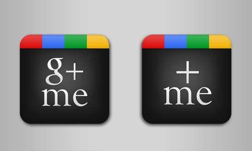 Google+ Me icons