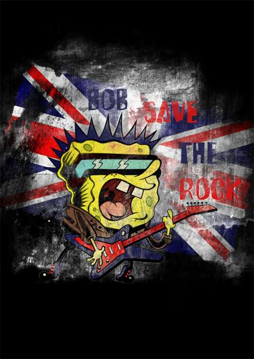 Sponge Bob save the Rock