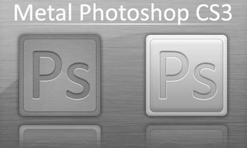 Metal Photoshop CS3 icons
