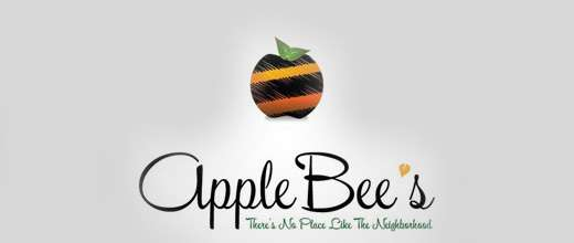 Bee apple logo