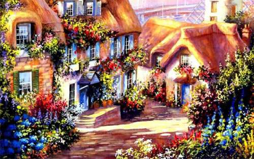 Cottage Painting wallpaper