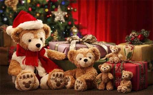 Teddy bear Christmas wallpaper