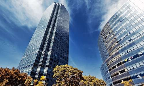 Blue free high resolution skyscraper wallpaper