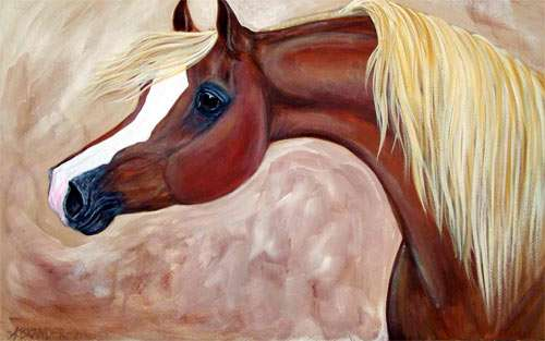 Horse Painting wallpaper