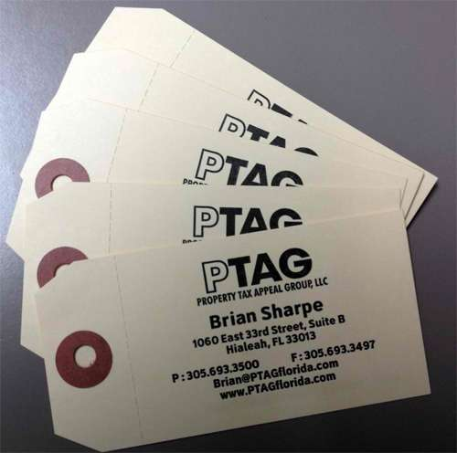 pTAG business card