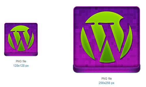 Pink WordPress Coloured Icon