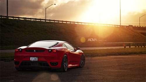 Red Ferrari ADV1 Parking Lot wallpapers