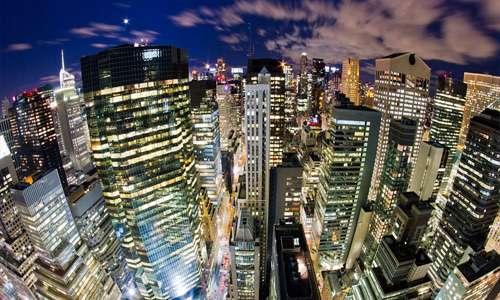 Fish eye view free high resolution skyscraper wallpaper