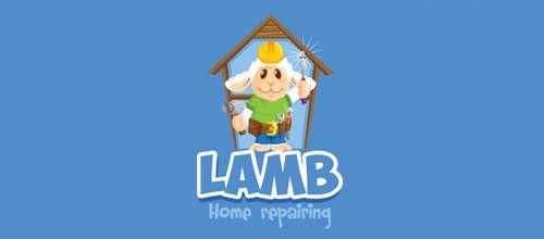Lamb home repairing logo