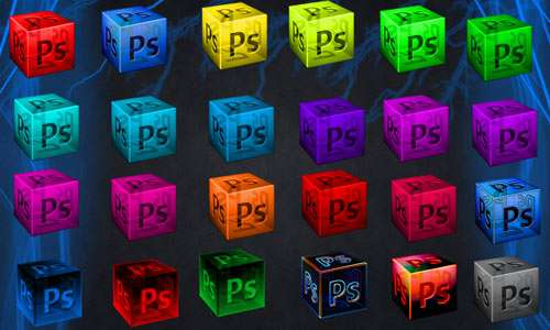 Photoshop Cube Dock Icons
