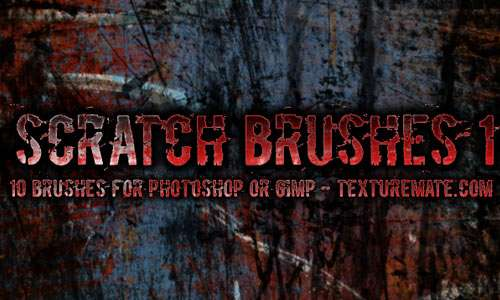 Scratches 1 Brush Pack for Photoshop or Gimp