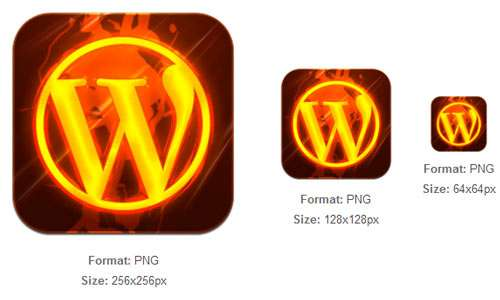 Burning WordPress Tile icon