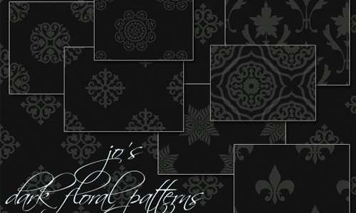 Free Dark Foral PS Patterns