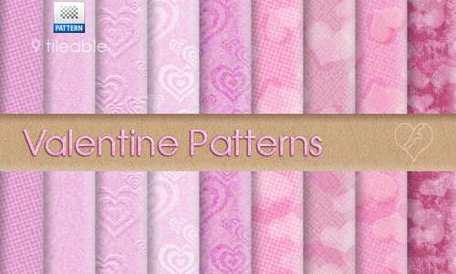 9 Tileable Valentine Patterns
