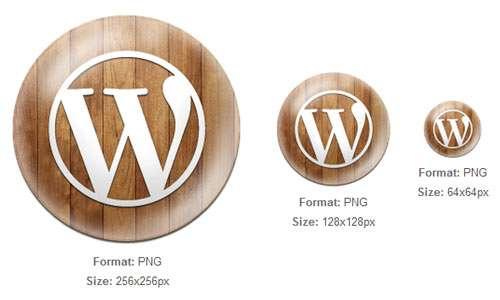 Wooden Button WordPress