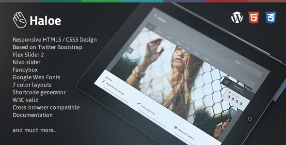 Haloe - Responsive WordPress Theme - Corporate WordPress