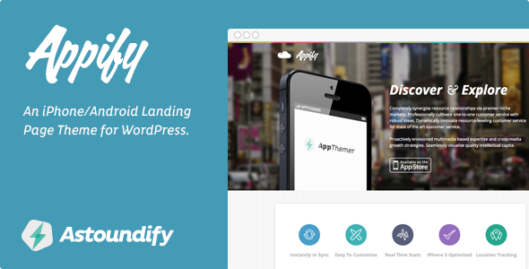 Appify - iPhone/Android App Landing Page Theme - Computer Technology