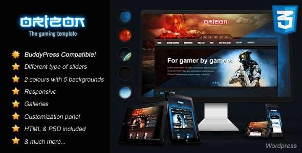 Orizon - The Gaming Template WP version - Technology WordPress