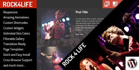 Rock4Life- Responsive WP-Theme for Bands/Musicians - Nightlife Entertainment