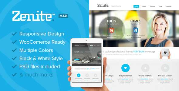 Zenite - Responsive Multi-Purpose WordPress Theme - Corporate WordPress