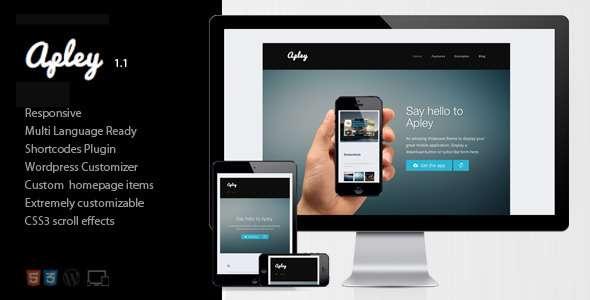 Apley - A mobile application landing page  - Technology WordPress