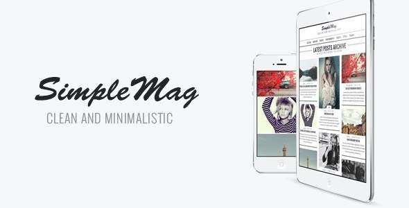 SimpleMag - Magazine theme for creative stuff - Blog / Magazine WordPress