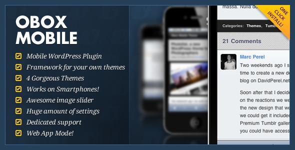 Obox Mobile - WordPress Mobile Framework - Obox Mobile Frameworks