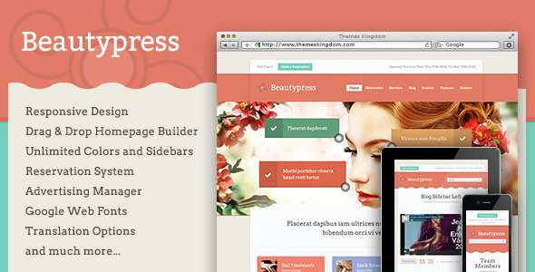 BeautyPress - Responsive WordPress Theme - Health & Beauty Retail