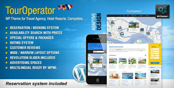 Tour Operator: WP theme with Reservation System - Miscellaneous WordPress