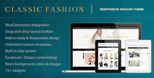 Classic Fashion - Stylish Fashion Shop Theme - Retail WordPress
