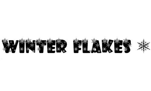 Flakes snowy snow free fonts