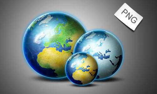 Internet- Globe icons