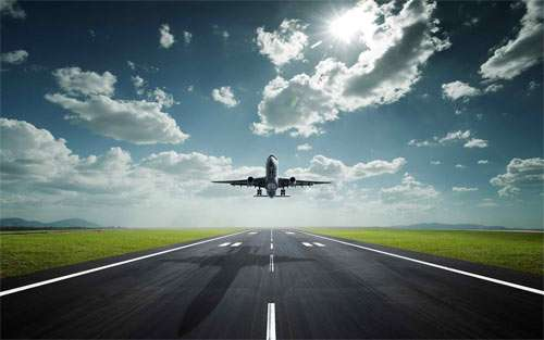 Landing Airplane_58613 Wallpaper