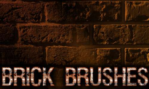 Brick 2 Brush Pack for Photoshop or Gimp