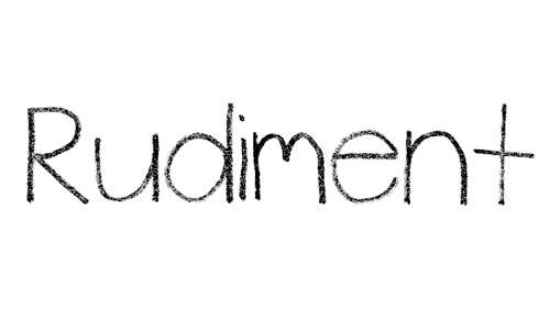 rudiment font