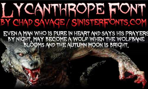 lycanthrope font