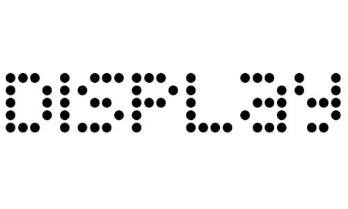Display Dots font