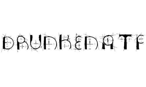 drunkenatf font