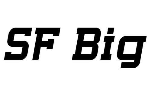 SF Big Whiskey font