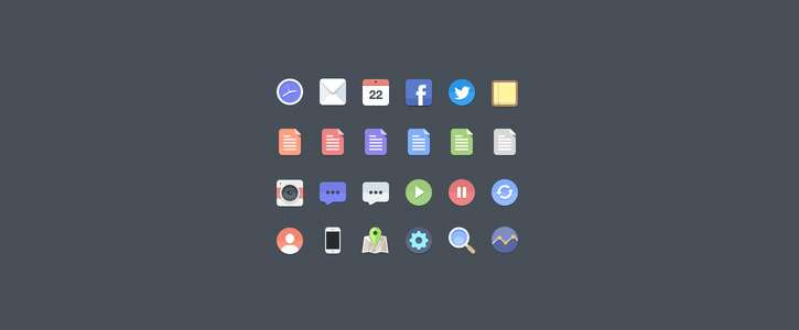 Free Flat Icons by Jan Dvorák