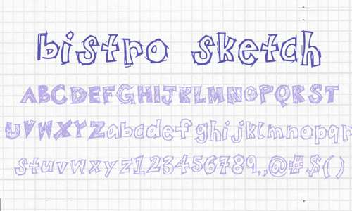 Cool fun doodle fonts sketch free