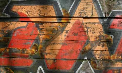 STOCK graffiti wooden fence 1