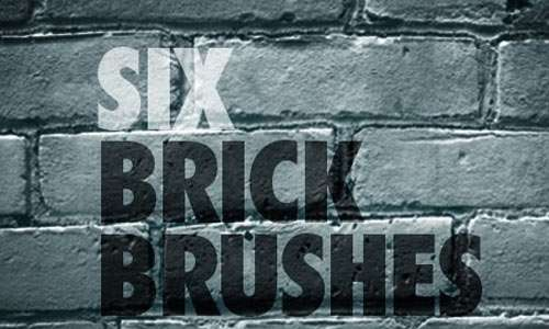 6 Brick Photoshop Brushes