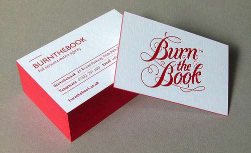 burnthebook Business Cards