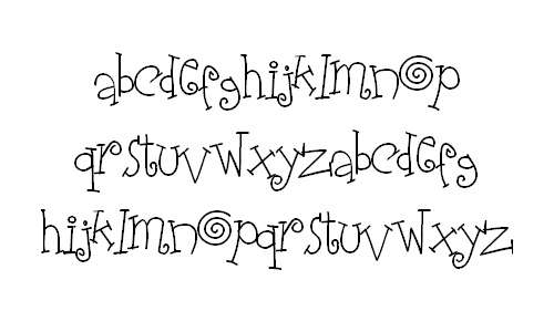 Fun curly doodle fonts sketch free