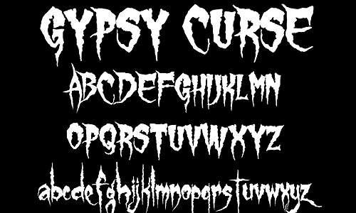 Gypsy Curse font