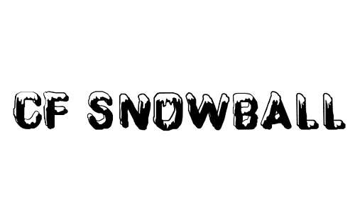 Ice cap snowy snow free fonts