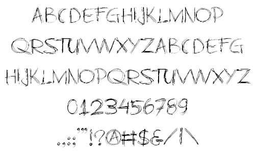 Pen handwritten doodle fonts sketch free