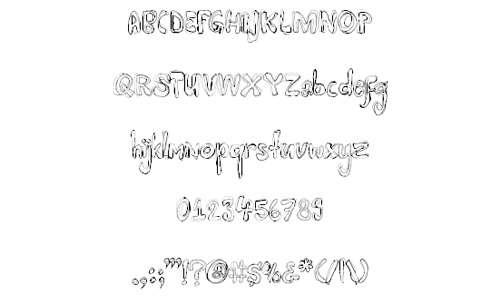 Bold doodle fonts sketch free